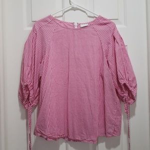 Ava and viv pink blouse